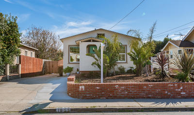 Ventura Single Family Home For Sale: 1658 Ocean Avenue