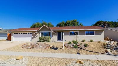 Newbury Park Single Family Home For Sale: 3427 Gloria Drive