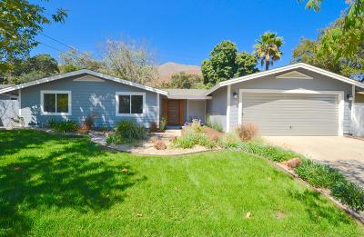 Ojai Single Family Home For Sale: 522 Pleasant Avenue