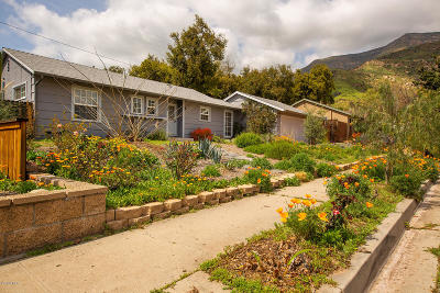 Ojai Single Family Home Active Under Contract: 1205 Sunset Place