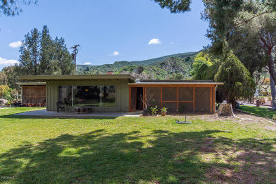 Santa Paula Single Family Home For Sale: 20022 South Mountain Road