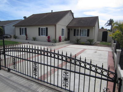 Oxnard Single Family Home Active Under Contract: 1274 W Birch Street