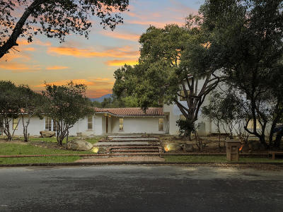 Ojai Single Family Home For Sale: 820 Foothill Lane