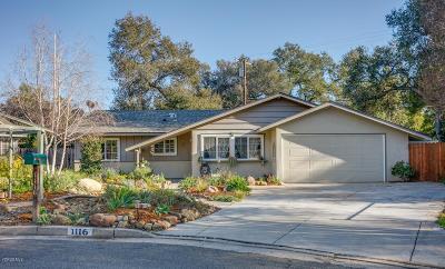 Ojai Single Family Home For Sale: 1116 Mariano Drive
