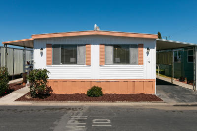 Ventura Mobile Home For Sale: 22 Heather Way