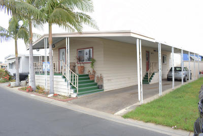 Oxnard Mobile Home Active Under Contract: 114 Yosemite Drive #112