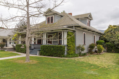 Santa Paula Single Family Home For Sale: 510 E Santa Paula Street