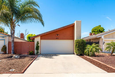 Camarillo Single Family Home For Sale: 895 Mobil Avenue