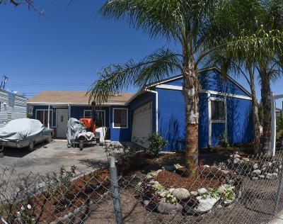 Fillmore Single Family Home Active Under Contract: 1201 Los Serenos Drive