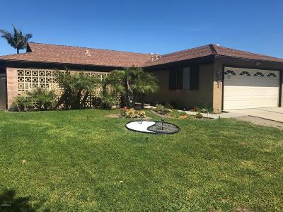 Ventura Single Family Home For Sale: 774 Mercer Avenue