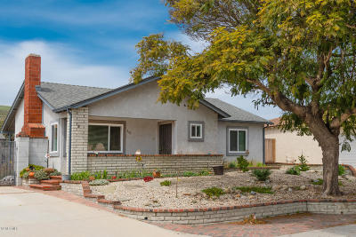 Ventura Single Family Home Active Under Contract: 837 Riverside Street