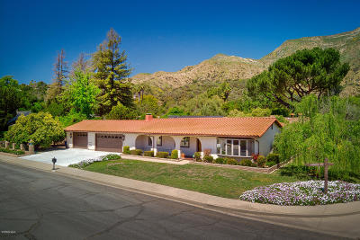 Ojai Single Family Home For Sale: 414 Andrew Drive