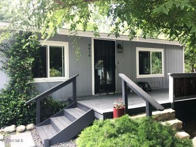 Ventura Single Family Home Active Under Contract: 8616 Nye Road