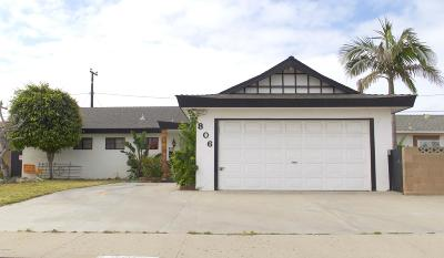 Port Hueneme Single Family Home Active Under Contract: 806 Polaris Way