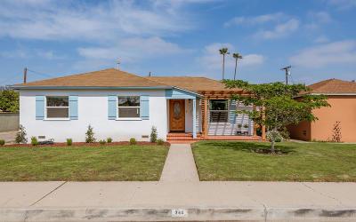 Oxnard Single Family Home Active Under Contract: 340 I Street