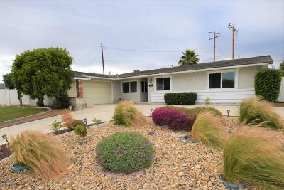 Camarillo Single Family Home For Sale: 1325 Melia Street