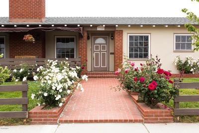 Ventura Single Family Home Active Under Contract: 3745 Loma Vista Road