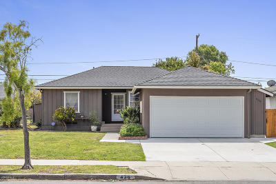 Ventura Single Family Home Active Under Contract: 436 S Dos Caminos Avenue