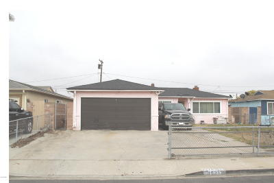 Ventura County Single Family Home Active Under Contract: 1534 6th Street