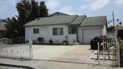 Oxnard Single Family Home For Sale: 1274 S H Street
