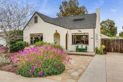 Ventura Single Family Home Active Under Contract: 1680 San Nicholas Street