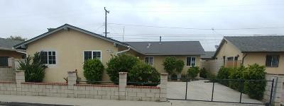 Oxnard Single Family Home For Sale: 1551 Morris Street