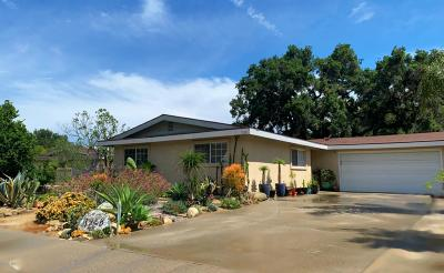 Santa Paula Single Family Home For Sale: 1268 Bruce Drive