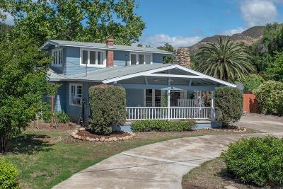 Ojai Single Family Home Active Under Contract: 907 Drown Avenue