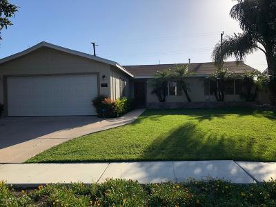 Ventura Single Family Home For Sale: 1383 Egret Avenue
