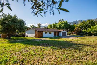 Ojai Single Family Home For Sale: 403 Montana Circle