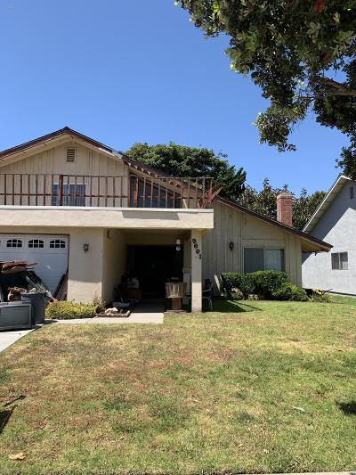Oxnard Single Family Home Active Under Contract: 3661 Via Marina Avenue
