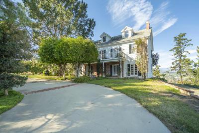 Camarillo Single Family Home Active Under Contract: 12243 Presilla Road