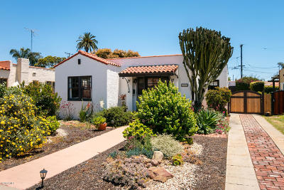 Ventura Single Family Home Active Under Contract: 208 S Catalina Street