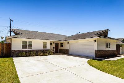 Ventura Single Family Home Active Under Contract: 1536 Cardigan Avenue