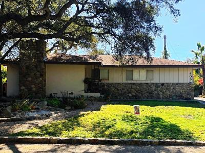 Santa Paula Single Family Home Active Under Contract: 805 Ojai Road