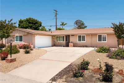 Camarillo Single Family Home For Sale: 290 Gardenia Avenue