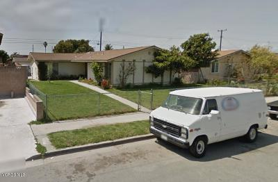 Oxnard Single Family Home Active Under Contract: 2521 El Dorado Avenue
