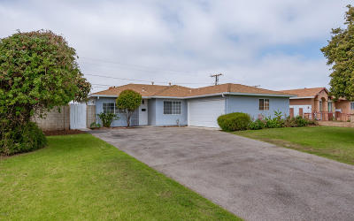 Oxnard Single Family Home For Sale: 2021 S J Street