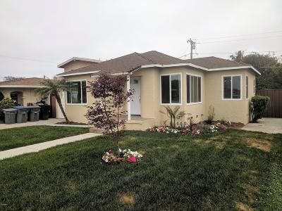 Oxnard Single Family Home Active Under Contract: 458 E Date Street