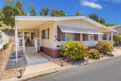 Camarillo Mobile Home Active Under Contract: 68 Caleta Drive #168