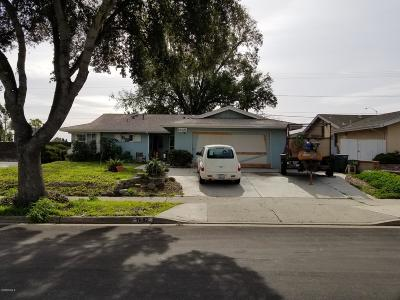 Ventura Single Family Home Active Under Contract: 7892 Brannan Street
