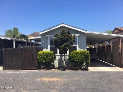 Ventura County Mobile Home Active Under Contract: 4132 Ventura Avenue #43