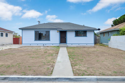 Oxnard Single Family Home Active Under Contract: 342 Occidental Drive