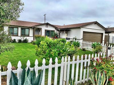 Port Hueneme Single Family Home Active Under Contract: 1425 6th Place