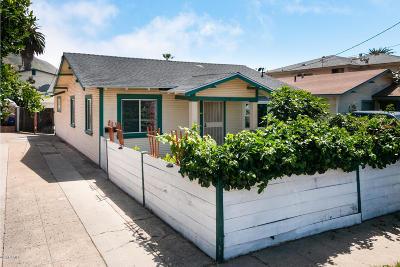 Ventura Single Family Home For Sale: 250 E Warner Street