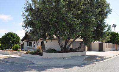 Ventura Single Family Home For Sale: 1505 Nevin Avenue