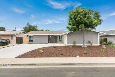 Oxnard Single Family Home Active Under Contract: 2050 Almanor Street