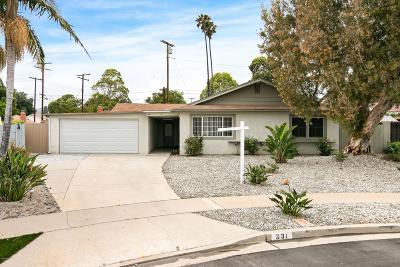 Ventura Single Family Home For Sale: 331 Eddy Court