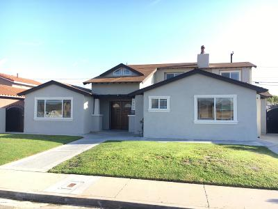 Oxnard Single Family Home For Sale: 943 Spruce Street