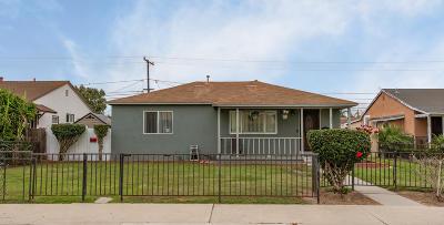 Oxnard Single Family Home Active Under Contract: 322 E Fir Avenue